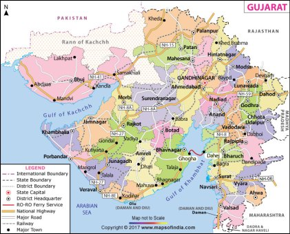 171201 Map of Gujarat